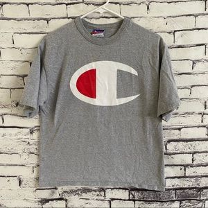 Champion Big Logo Spell Out Tee